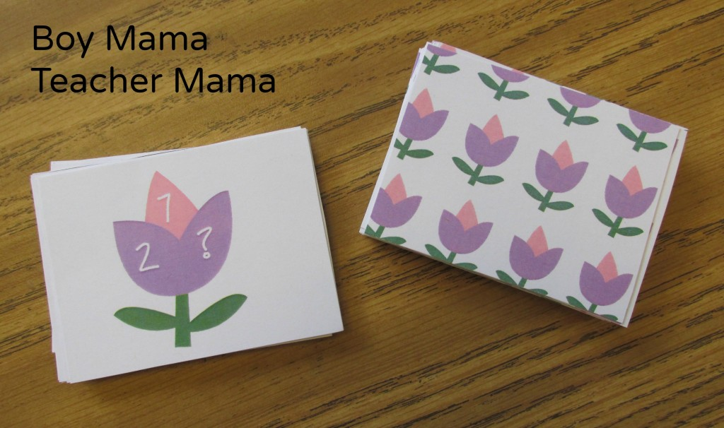 Boy Mama Teacher Mama  Flower Pot Number Bond Game 5