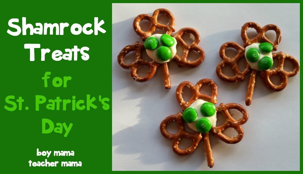 Boy Mama Teacher Mama  Shamrock Treats for  St. Patrick's Day