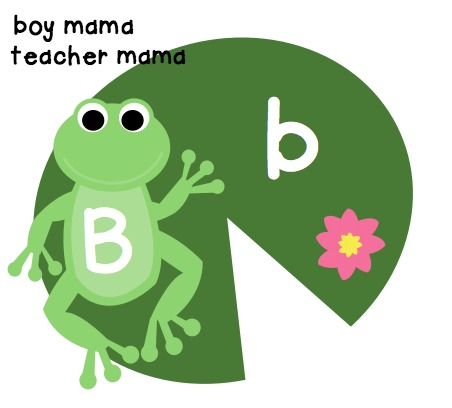 Boy Mama Teacher Mama  Upper and Lower Case Letter Match