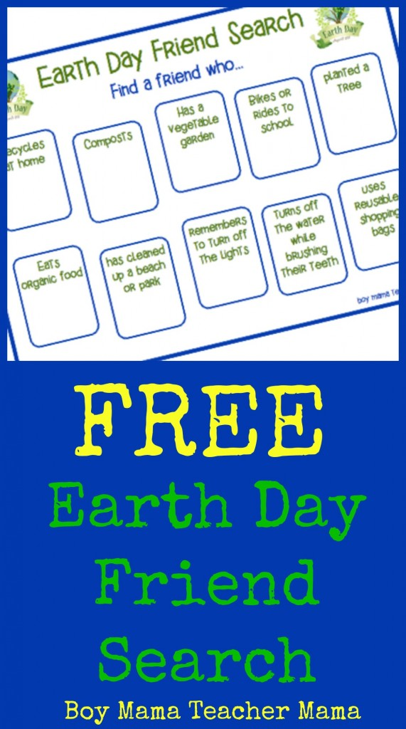 Boy Mama Teacher Mama Earth Day Friend Search BMTM