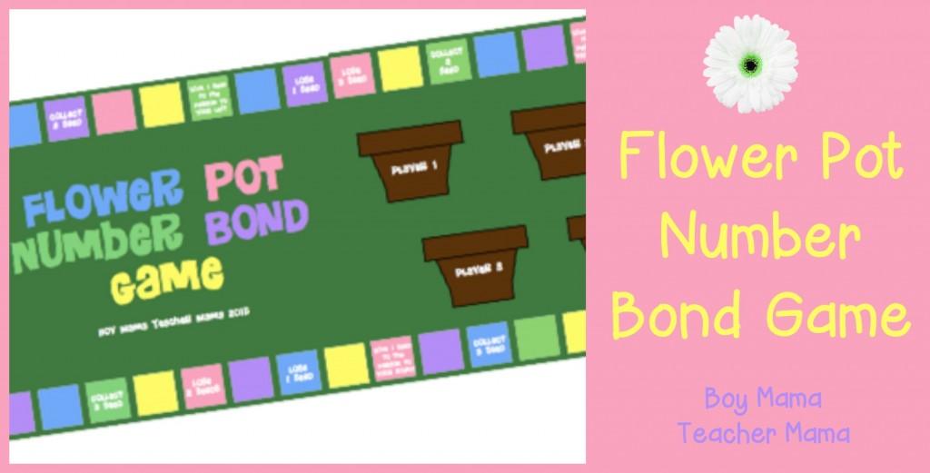 Boy Mama Teacher Mama  Flower Pot Number Bond Game (featured)