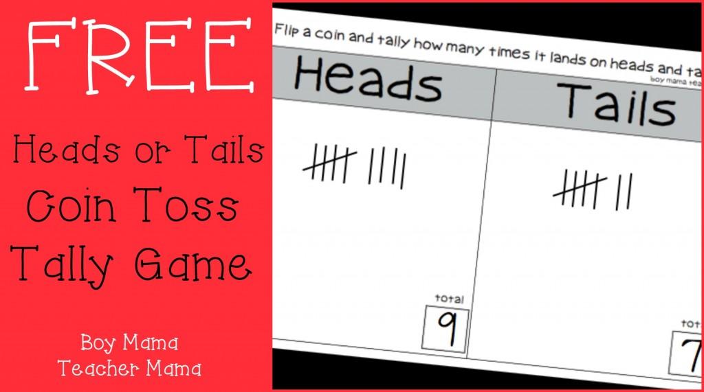 Boy Mama Teacher Mama  FREE Heads or Tails Game