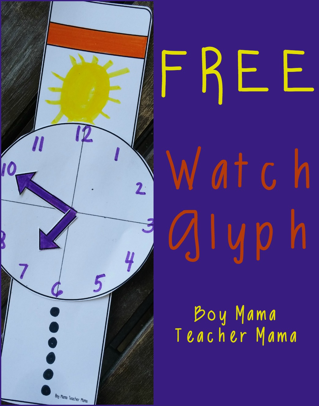 Boy Mama Teacher Mama FREE Watch Glyph (featured)