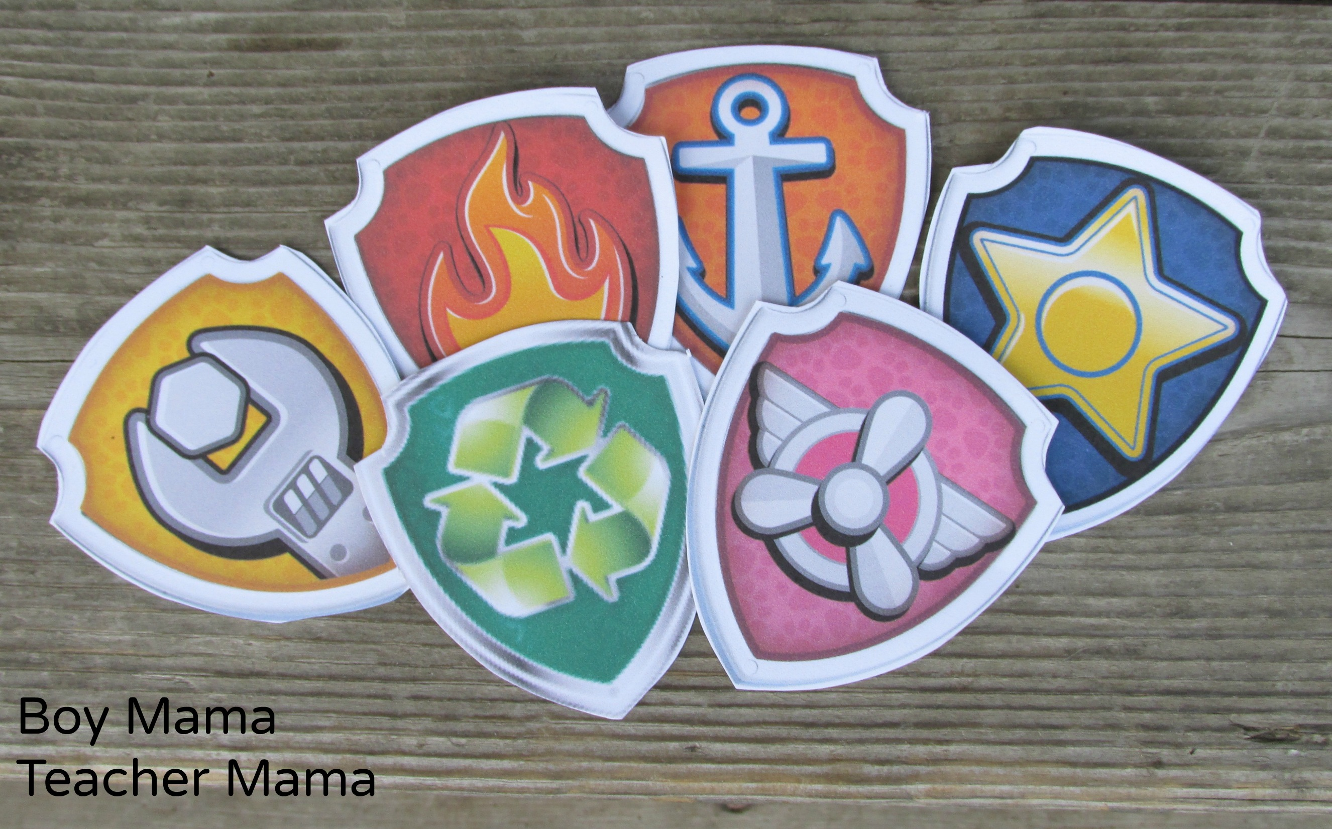 photo about Free Printable Paw Patrol Badges identify Boy Mama: Free of charge Paw Patrol Identify the Badge Printable Match