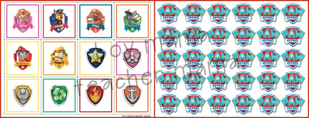 Boy Mama Teacher Mama  FREE Paw Patrol Printable Cards
