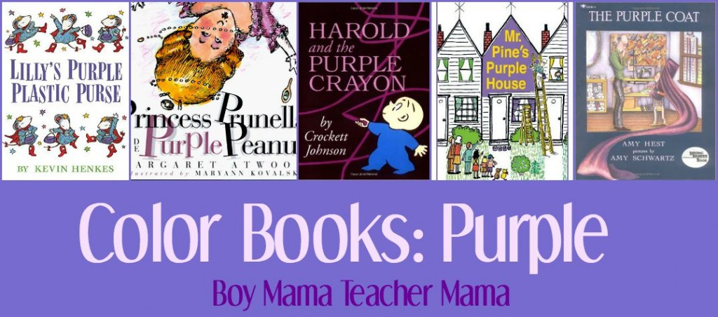 Boy Mama Teacher Mama  Color Books Purple