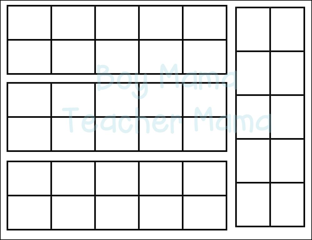 Ten Frame Template   Teacher Mama How To Make A Magnetic Ten Frame Paddle Boy Mama