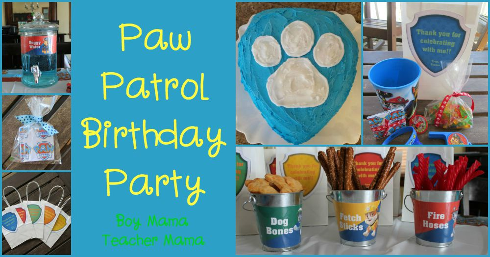 Boy Mama Teacher Mama Paw Patrol Birthday Party