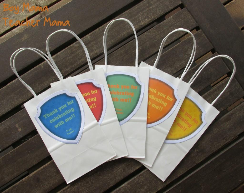 Boy Mama Teacher Mama Paw Patrol Party Bags