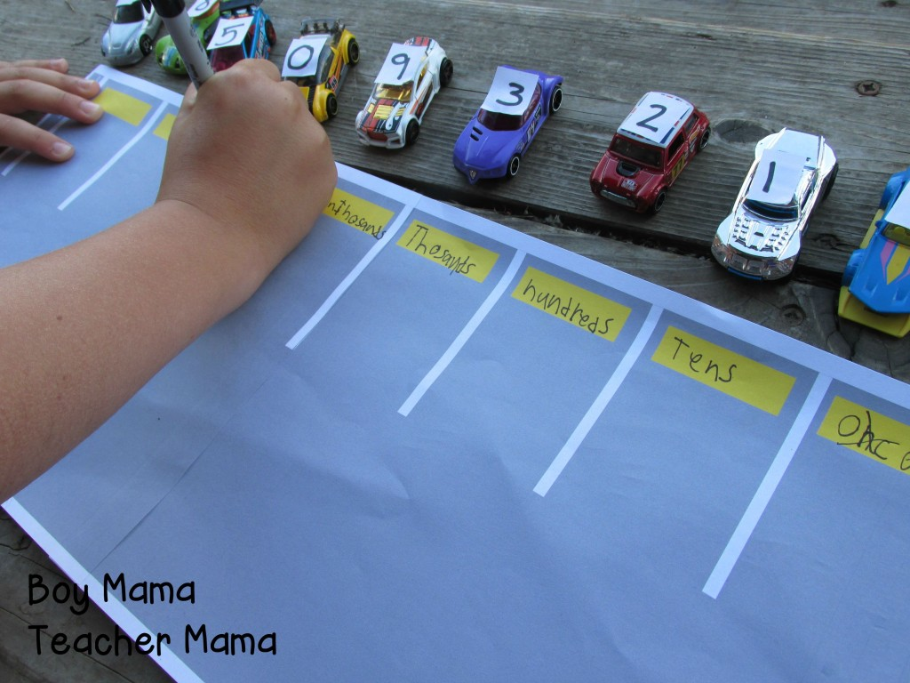 Boy Mama Teacher Mama  Place Value Parking Lot 4