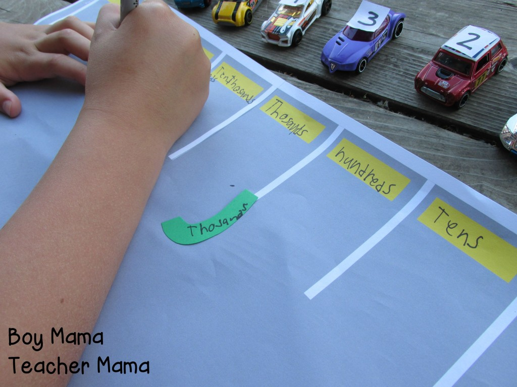 Boy Mama Teacher Mama  Place Value Parking Lot 5