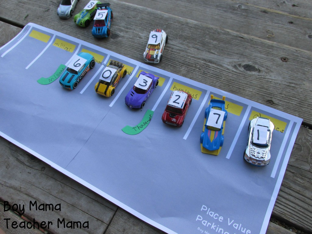Boy Mama Teacher Mama  Place Value Parking Lot 6