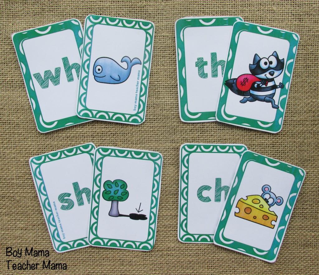 Boy Mama Teacher Mama Digraph Cards