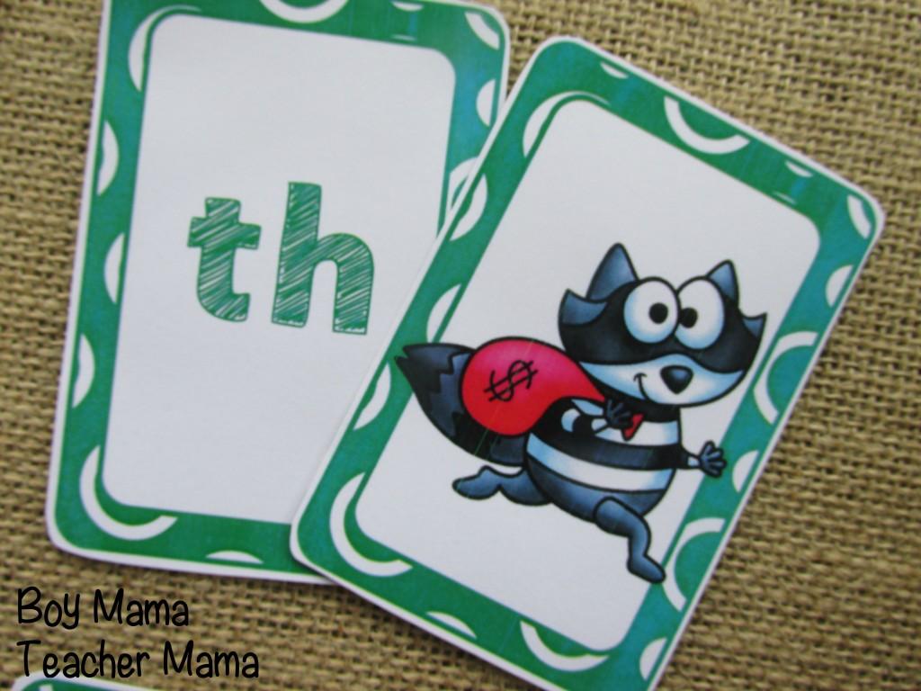 Boy Mama Teacher Mama Digraph Cards 2