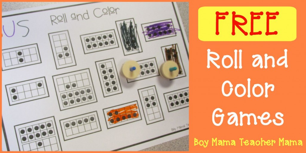 Boy Mama Teacher Mama | FREE Roll and Color Games