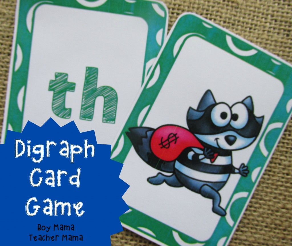 Boy Mama Teacher Mama Digraph Card Game (featured)