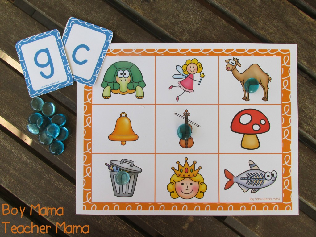 Boy Mama Teacher Mama Letter Sound Bingo