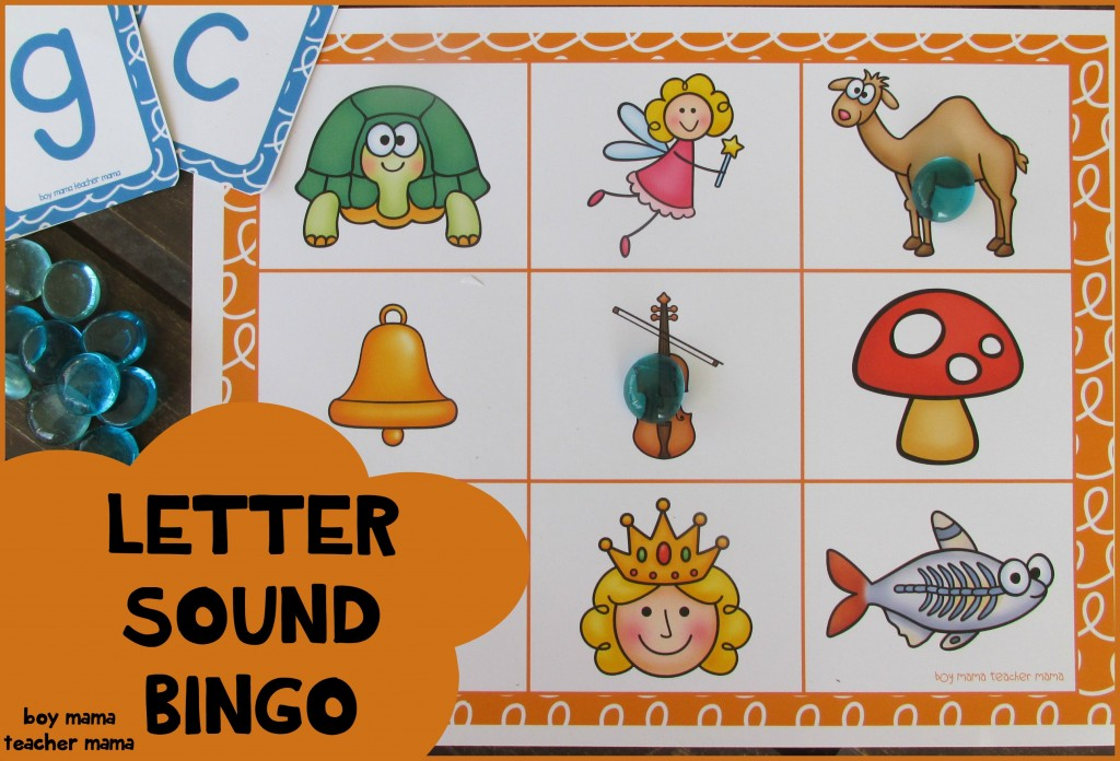 Boy Mama Teacher Mama Letter Sound Bingo (featured)
