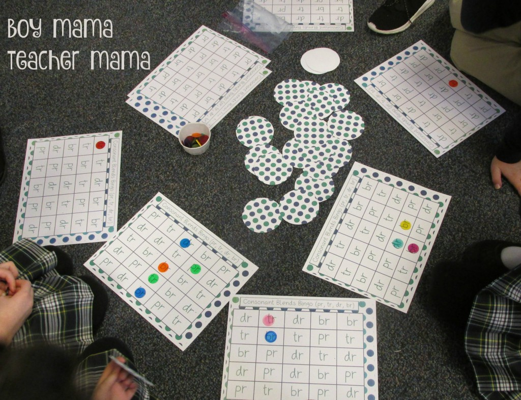 Boy Mama Teacher Mama Consonant Blends Bingo
