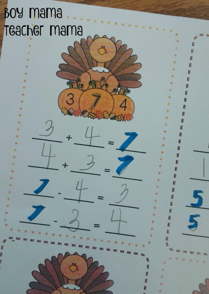 Boy Mama Teacher Mama FREE Turkey Fact Family Practice Sheet