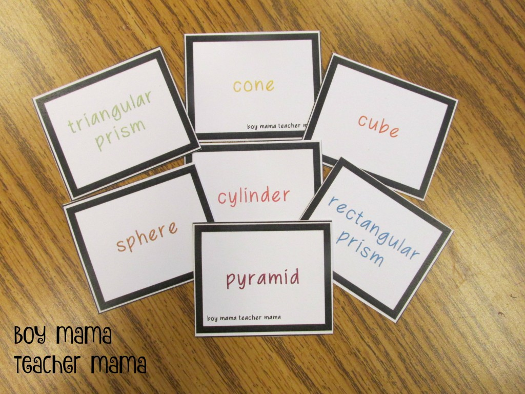 Boy Mama Teacher Mama Solid Shapes Game 2