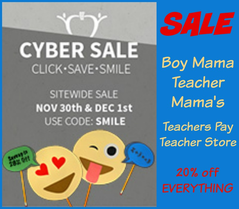 Boy Mama Teacher Mama TPT Sale