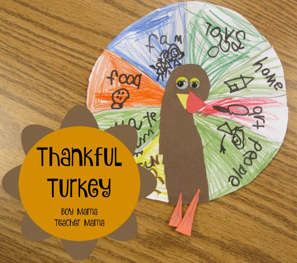 Boy Mama Teacher Mama Thankful Turkey (featured)