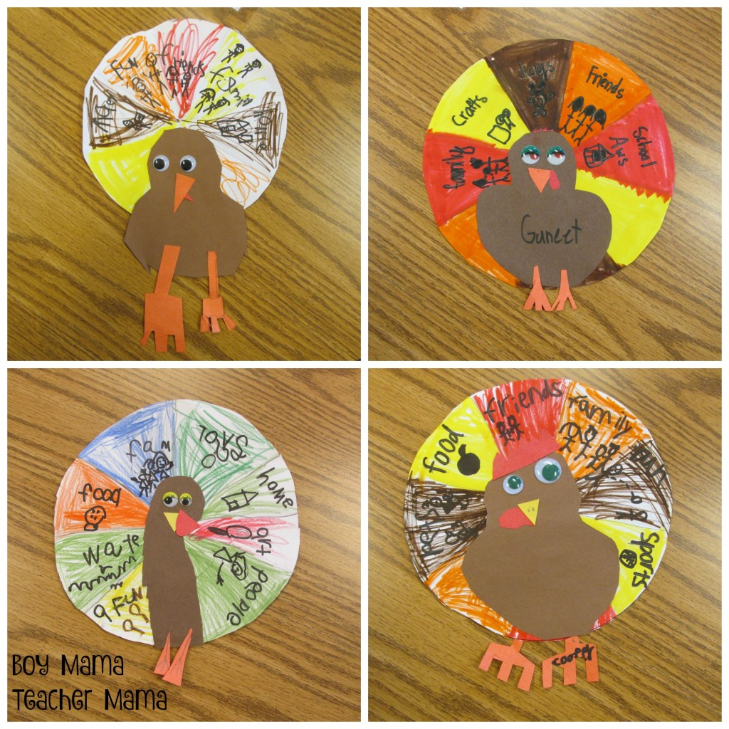 Boy Mama Teacher Mama Thankful Turkeys 5