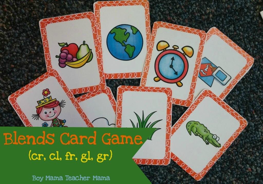 Boy Mama Teacher Mama Blends Card Game (cr, cl, fr, gl, gr)