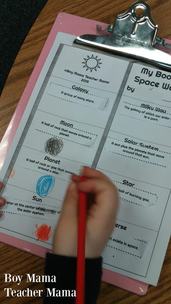 Boy Mama Teacher Mama Simple Space Words Book 2