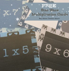 Boy Mama Teacher Mama FREE Star Wars Multiplication Cards (featured)