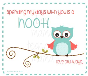 graphic regarding Teacher Valentine Printable identify Instructor Mama: Cost-free Printable Owl Valentines for Academics