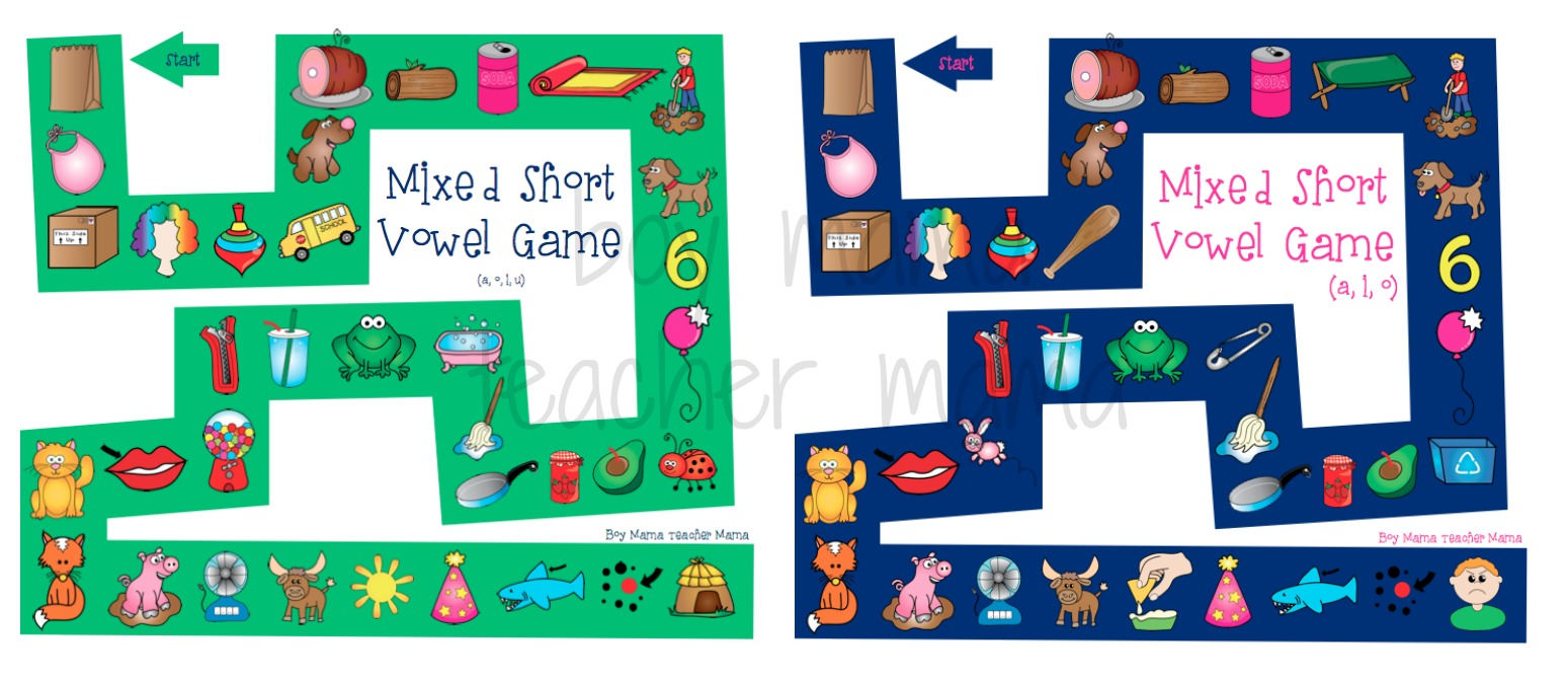 Boy Mama Teacher Mama Mixed Short Vowel Games