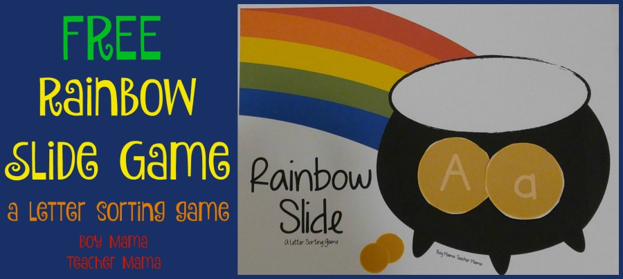 Boy Mama Teacher Mama Rainbow Slide Game