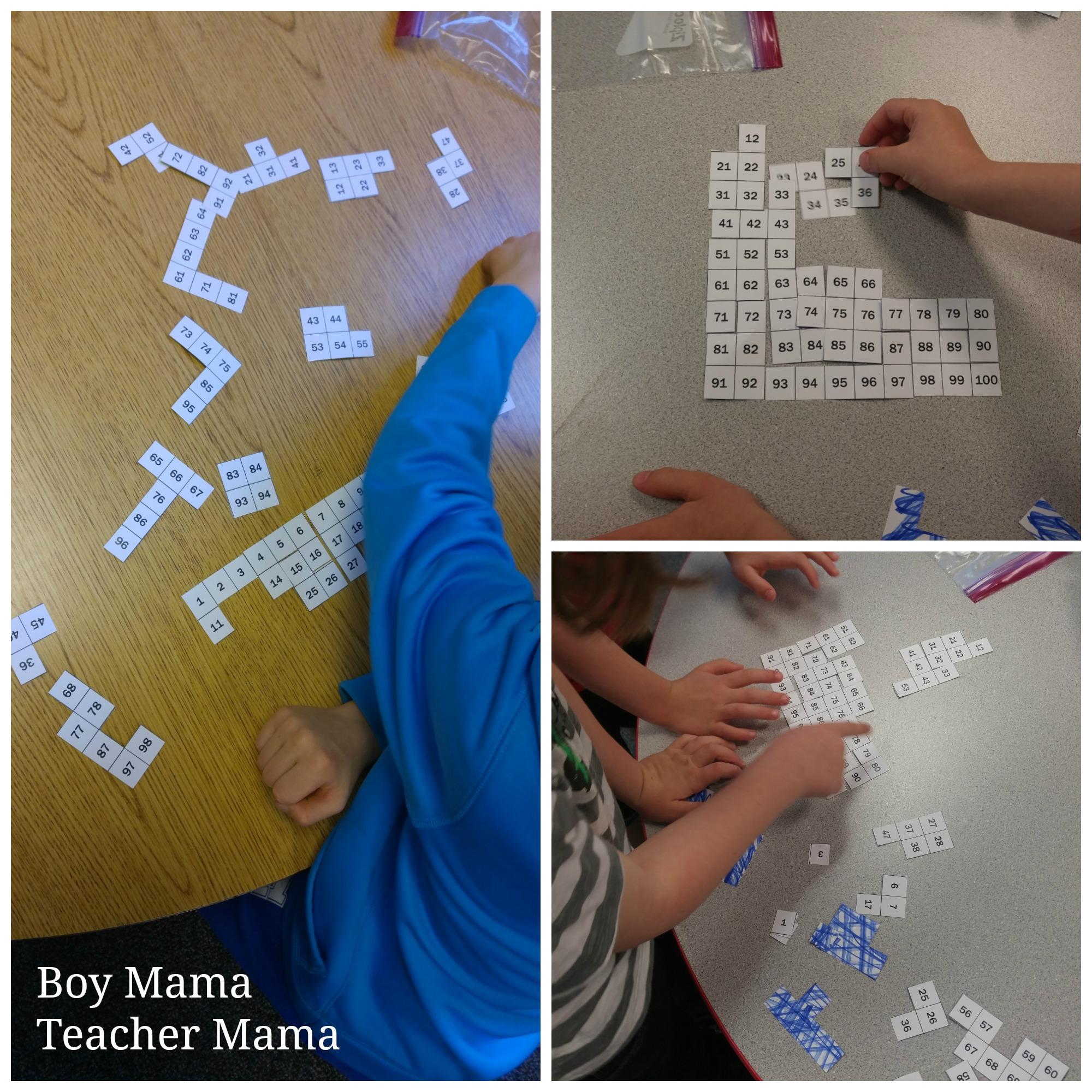 Boy Mama Teacher Mama 100s Chart Puzzles 3