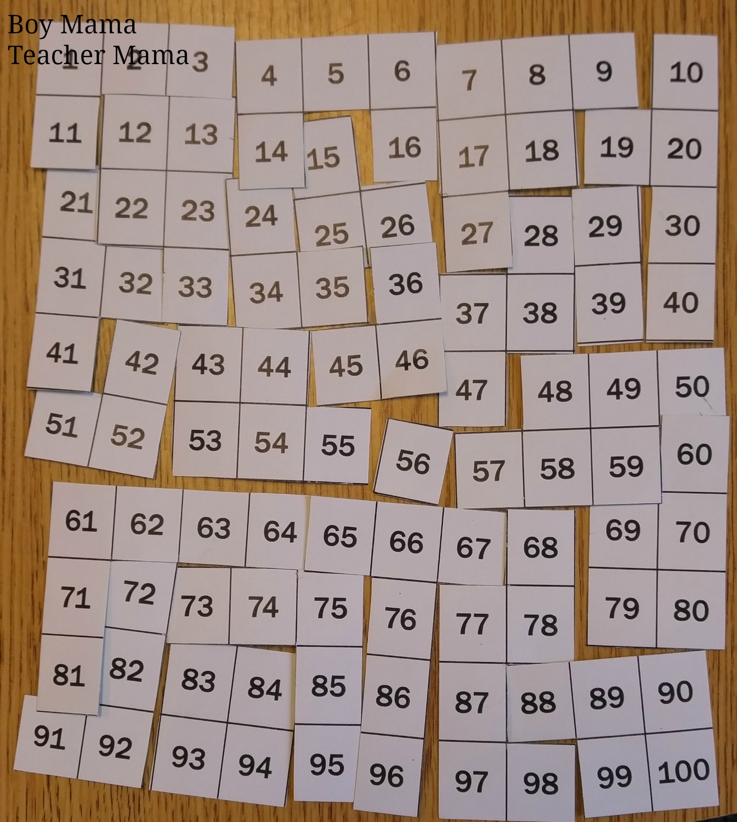 Boy Mama Teacher Mama 100s Chart Puzzles 5