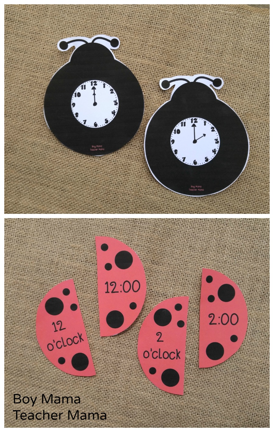 Boy Mama Teacher Mama O'Clock Ladybug Puzzles