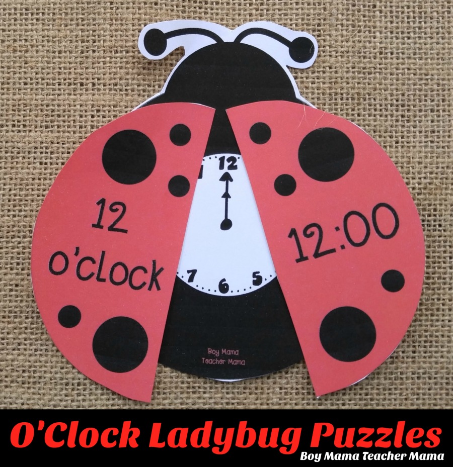 Boy Mama Teacher Mama O'Clock Ladybug Puzzles (featured)