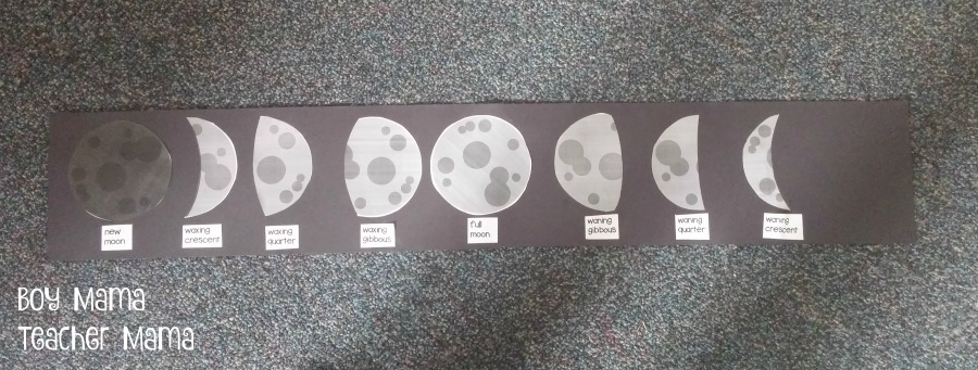 Boy Mama Teacher Mama Phases of the Moon Activity 2