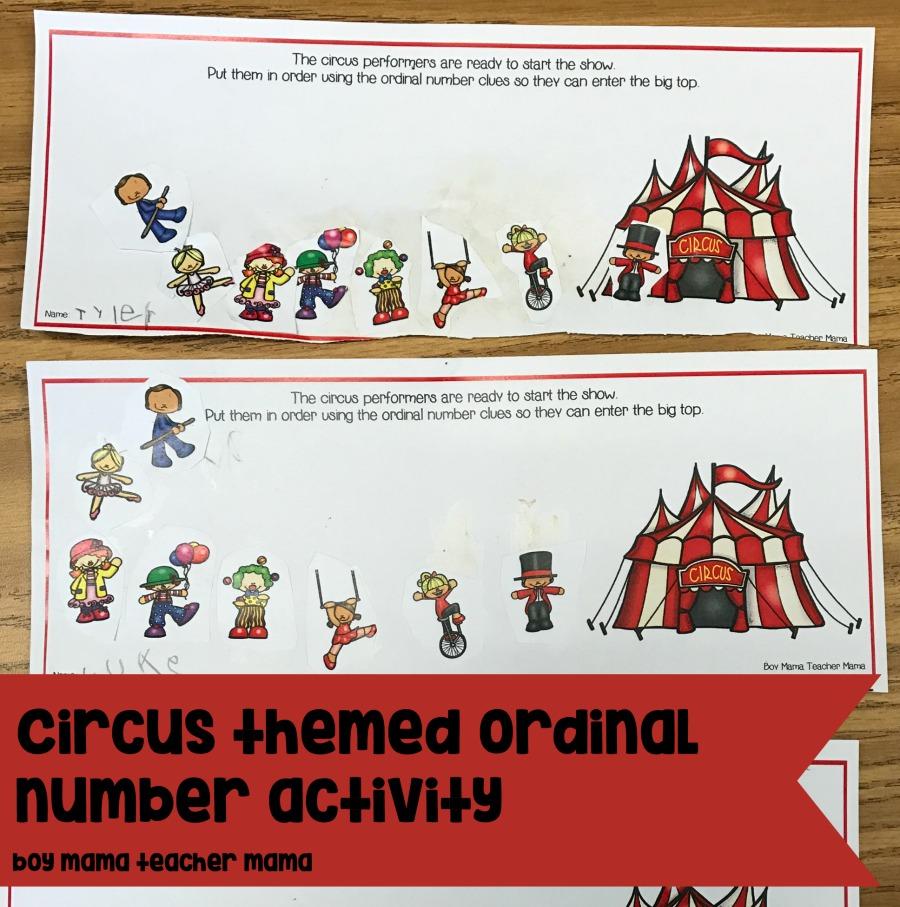 Circus Themed Writing Reading Math And Craft Activities