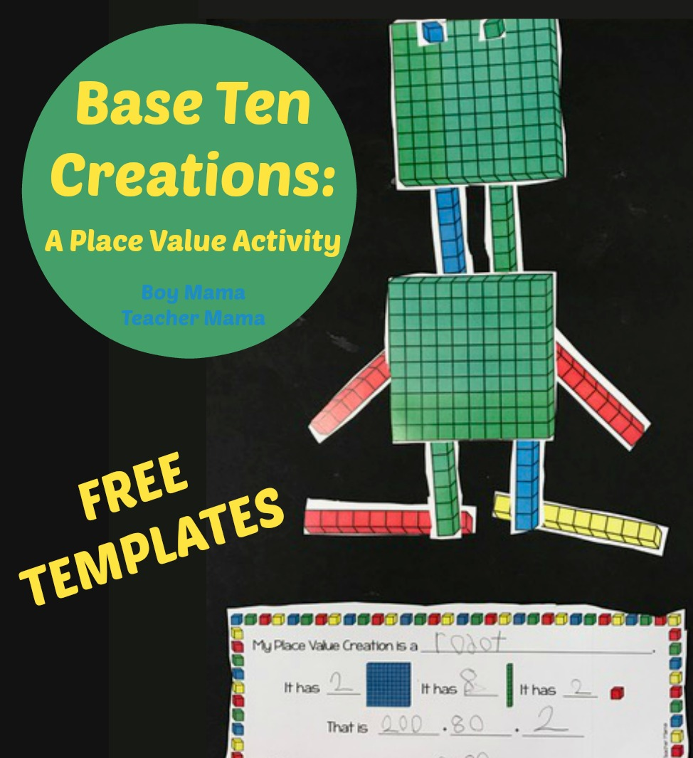 FREE Base Ten Blocks Creations: A Place Value Activity ...