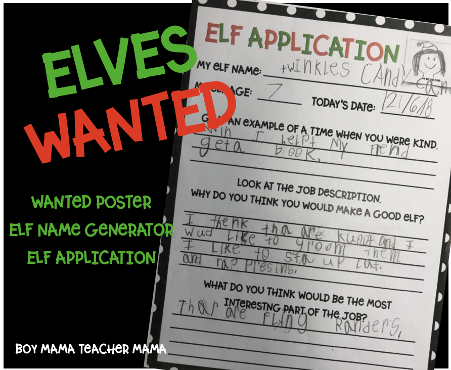 Elves Wanted: Poster, Application and Name Generator - Boy