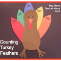 Boy Mama Teacher Mama | Counting Turkey Feathers